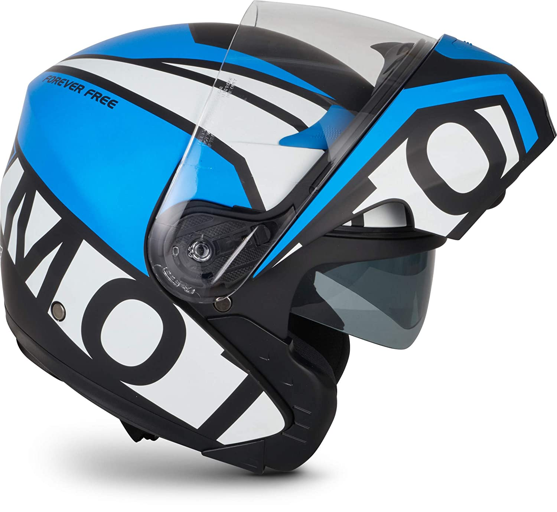 "MOTOHelmets/® F19 /""Racing Red/"" /· Motorrad-Helm /· Klapp-Helm Modular-Helm Flip-up Integral-Helm Motorrad-Helm Roller-Helm Full-Face Scooter-Helm /· ECE Sonnenvisier Schnellverschluss Tasche XS 53-54cm"