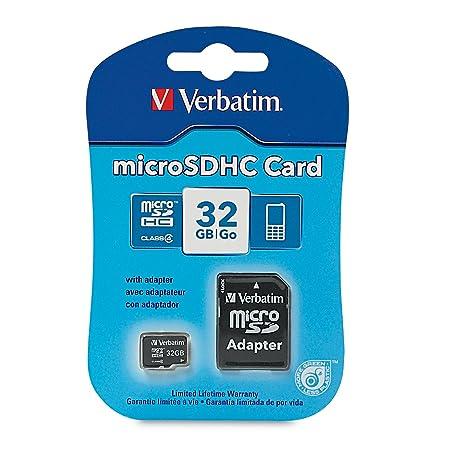 Amazon.com: Verbatim tarjeta MicroSDHC de 32 GB con ...