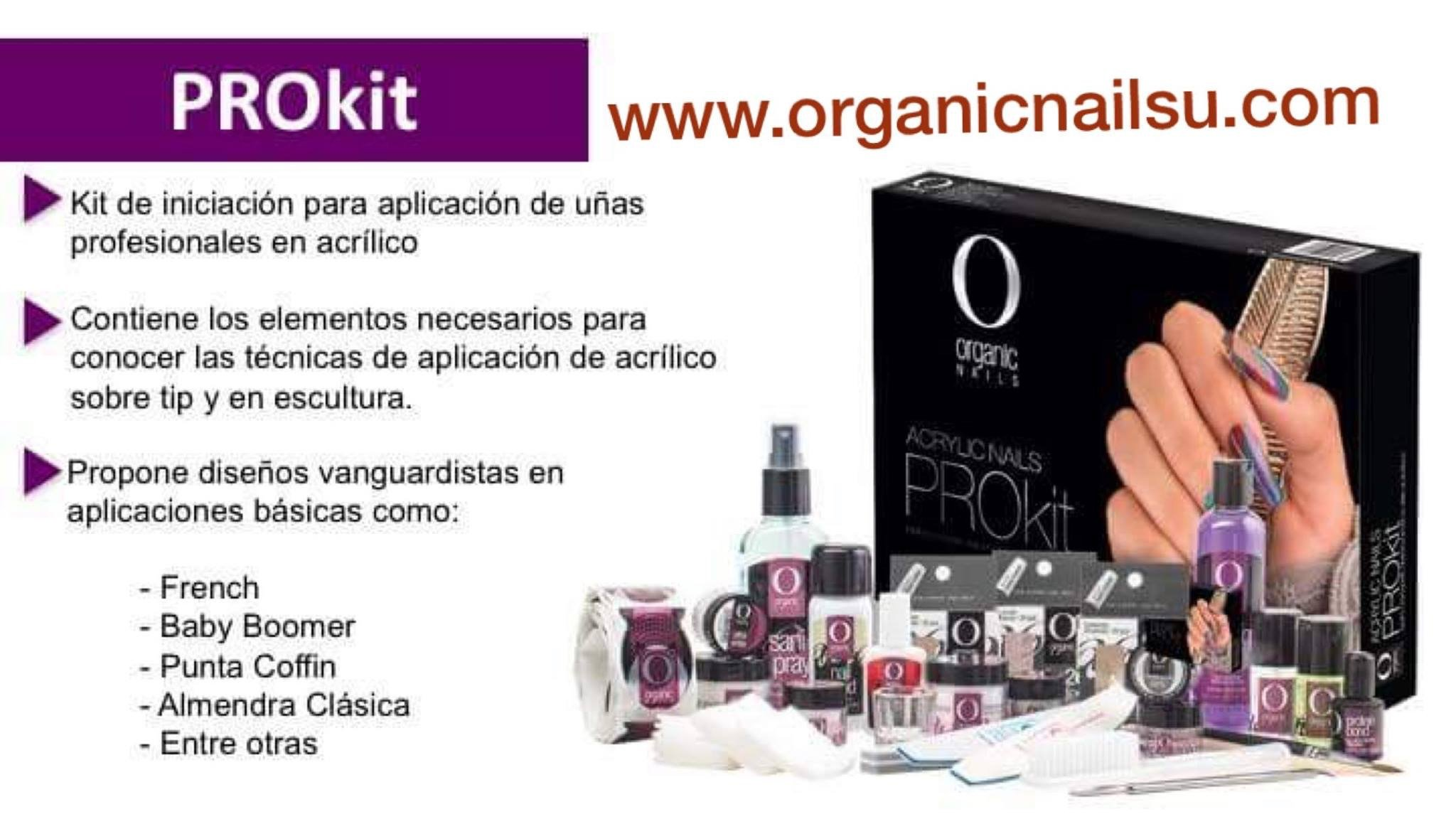 Kit Acrilic Basic Aplication NEW PRO KIT ORGANIC NAILS GRATIS CORTATIP by Organic Nails