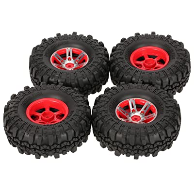 Goolsky 4Pcs AUSTAR AX-4020A 1.9 Inch 110mm 1/10 Rock Crawler Tires with Alloy Beadlock Wheel Rim for D90 SCX10 AXAIL RC4WD TF2 RC Car: Toys & Games