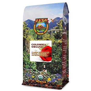 Java Planet Colombian Organic Coffee Beans