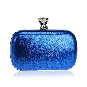 Bolso de Noche de Embrague,Tarjetero con Cuentas de Embrague,Bolso de Noche de Diamantes de imitación-Azul 5x10x16cm(2x4x6inch): Amazon.es: Equipaje