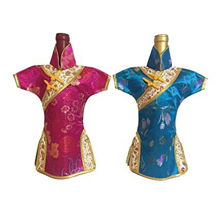 723d2824a Amazon.com | Yatao 2pcs Cheongsam Red Wine Storage Bag Bottle Shade ...
