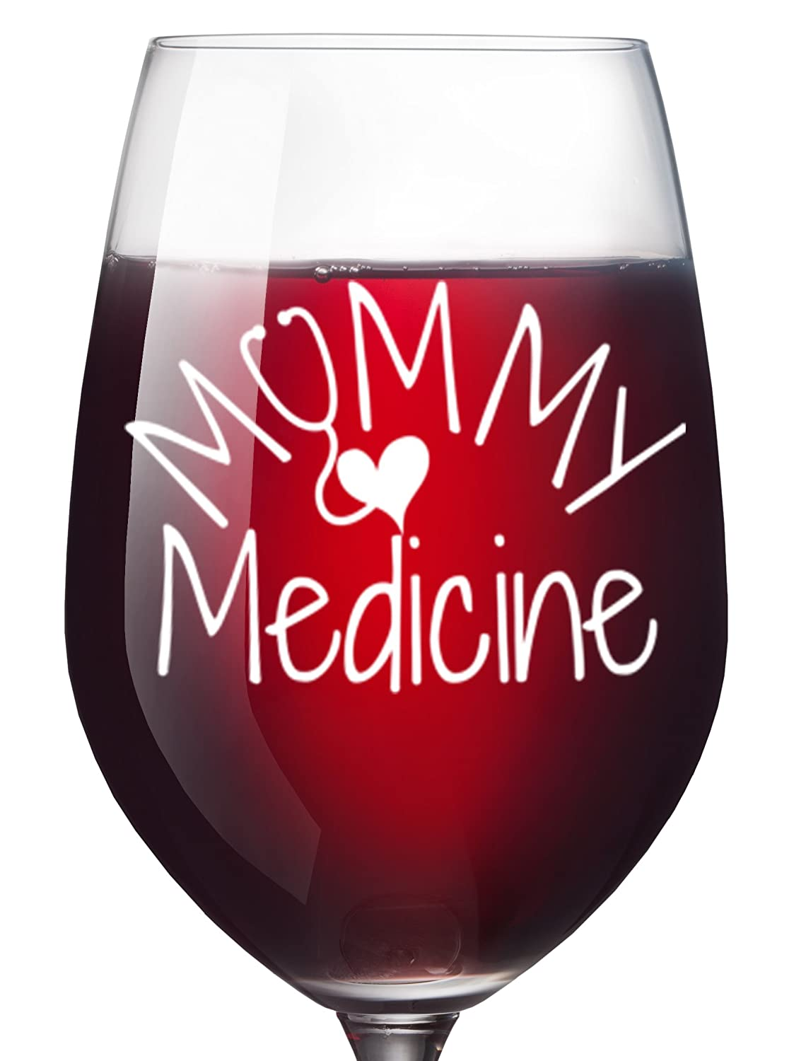 Amazoncom Mommy Medicine Funny Wine Glass For Women Mom Birthday
