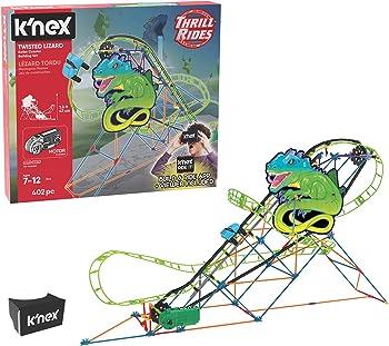 K'NEX 402-Piece Thrill Rides Twisted Lizard Roller Coaster Building Set