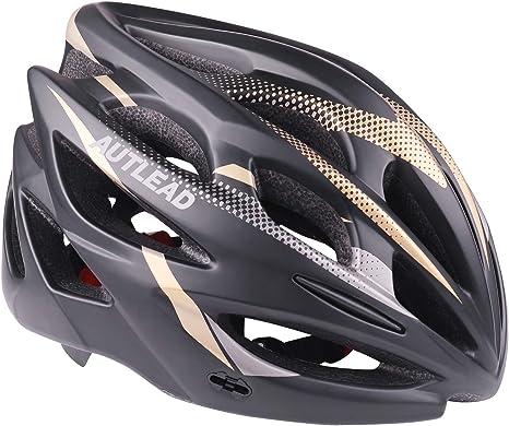 AUTLEAD Casco para Bicicleta con Luz LED, Casco Ajustable ...