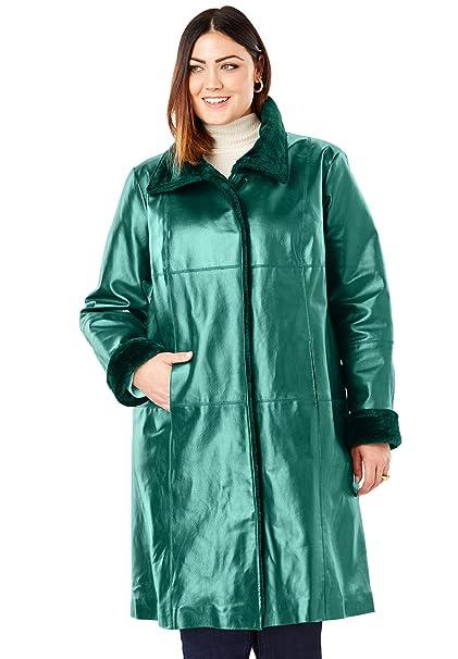 Amazon.com: Jessica London - Abrigo de piel para mujer ...