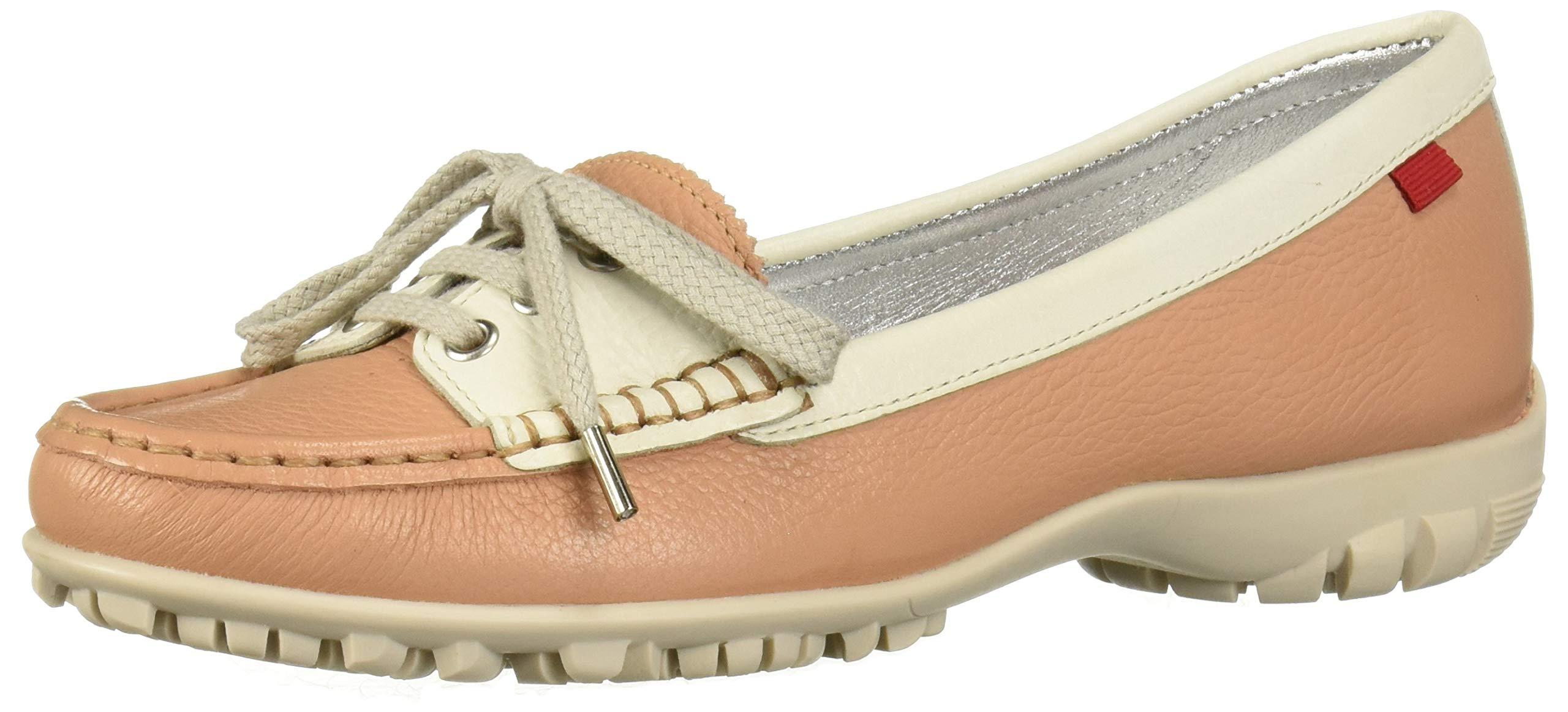MARC JOSEPH NEW YORK Womens Leather Made in Brazil Liberty Golf Shoe, café Cream Grainy, 6 M US by MARC JOSEPH NEW YORK