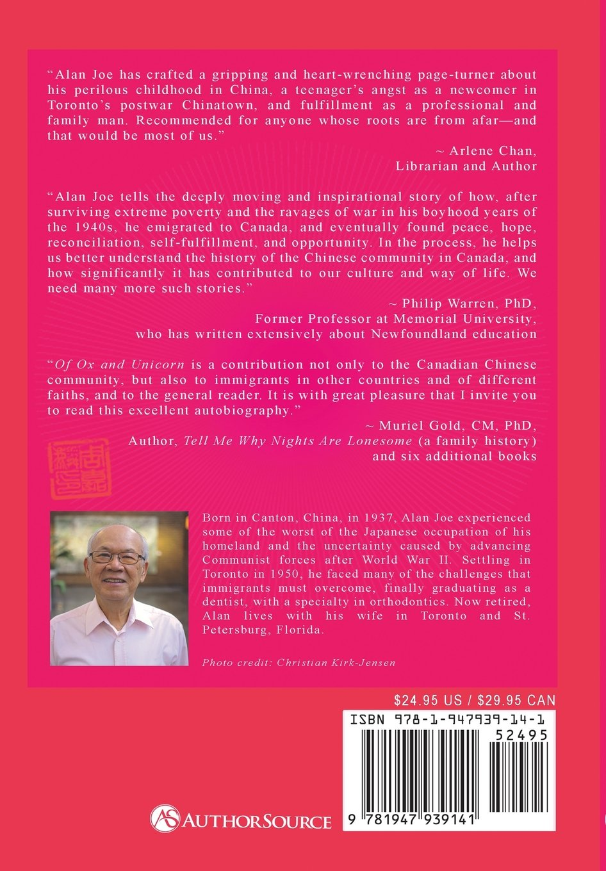 Of Ox and Unicorn: An Immigrant's Story: Alan K  Joe: 9781947939141