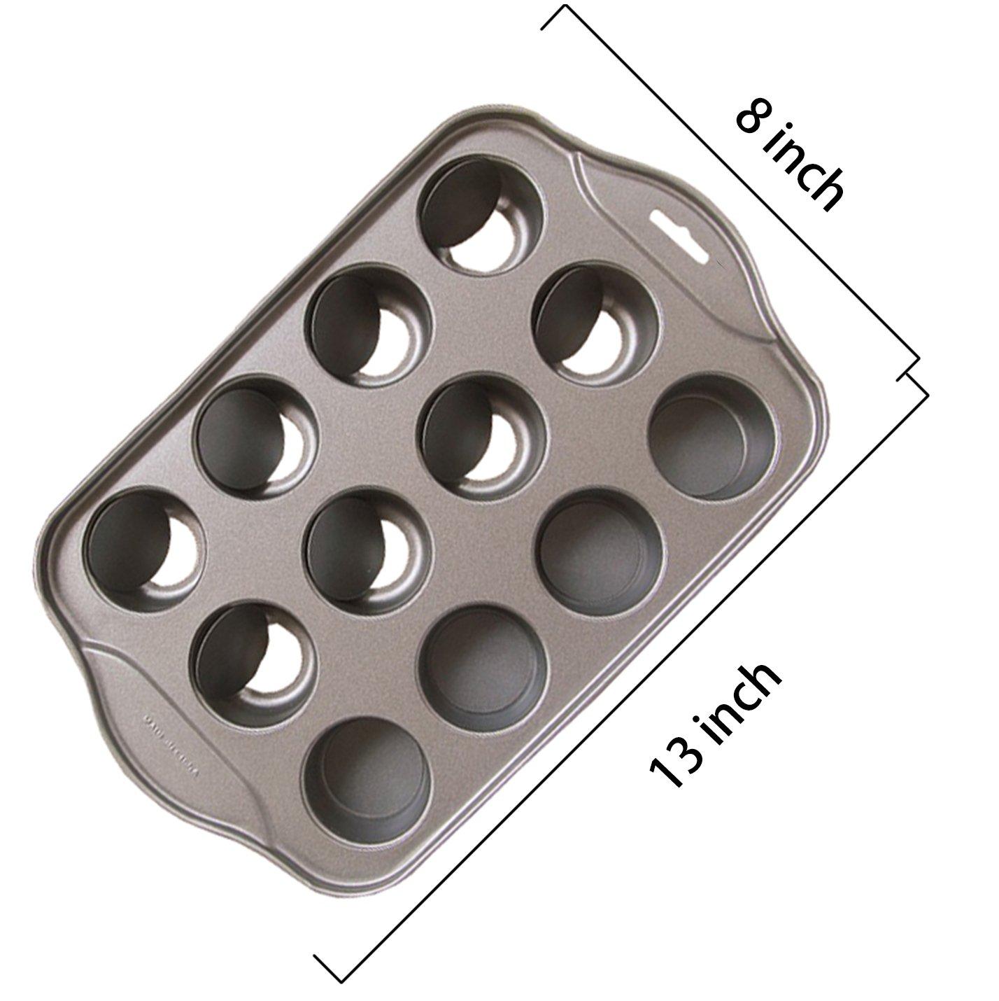 Tosnail 12 Cavity Mini Cheesecake Pan
