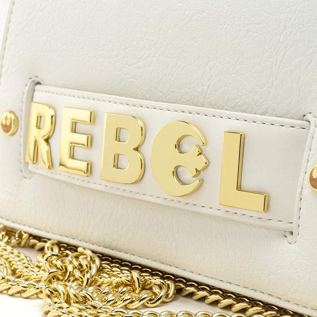 Loungefly x Star Wars Gold Chain Rebel Clutch Crossbody Bag