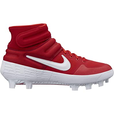 detailed pictures 7bb12 13b98 Amazon.com   Nike Men s Alpha Huarache Elite 2 Mid MCS Molded Baseball Cleat  University Red White Size 13 M US   Baseball   Softball