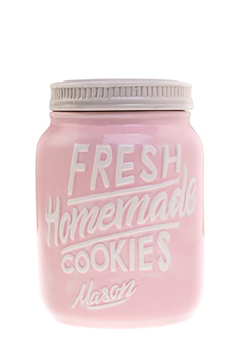 Rustic Cookie Jar Mesmerizing Amazon Pink Ceramic Mason Jar Cookie Jar Keep Your Cookies