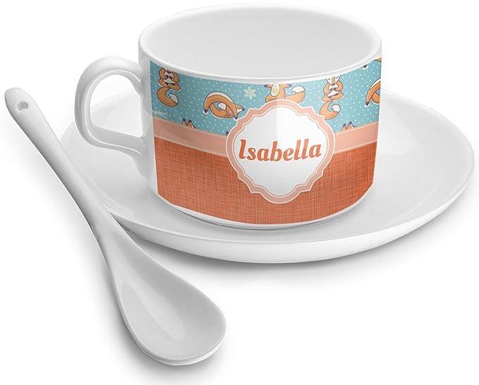 Amazon.com | Foxy Yoga Tea Cup (Personalized): Coffee Cups ...