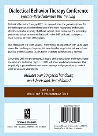 Amazon.com: Dialectical Behavior Therapy Conference: Practice ...