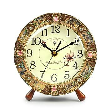 Reloj de Mesa Antiguo/Reloj de péndulo de Moda/Reloj de decoración del hogar/Reloj de Movimiento de Cuarzo Reloj de Silencio/Tiempo preciso/Creativo del ...