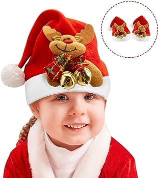Amazon.com: Sombreros de Navidad para niños, gorro de Papá ...