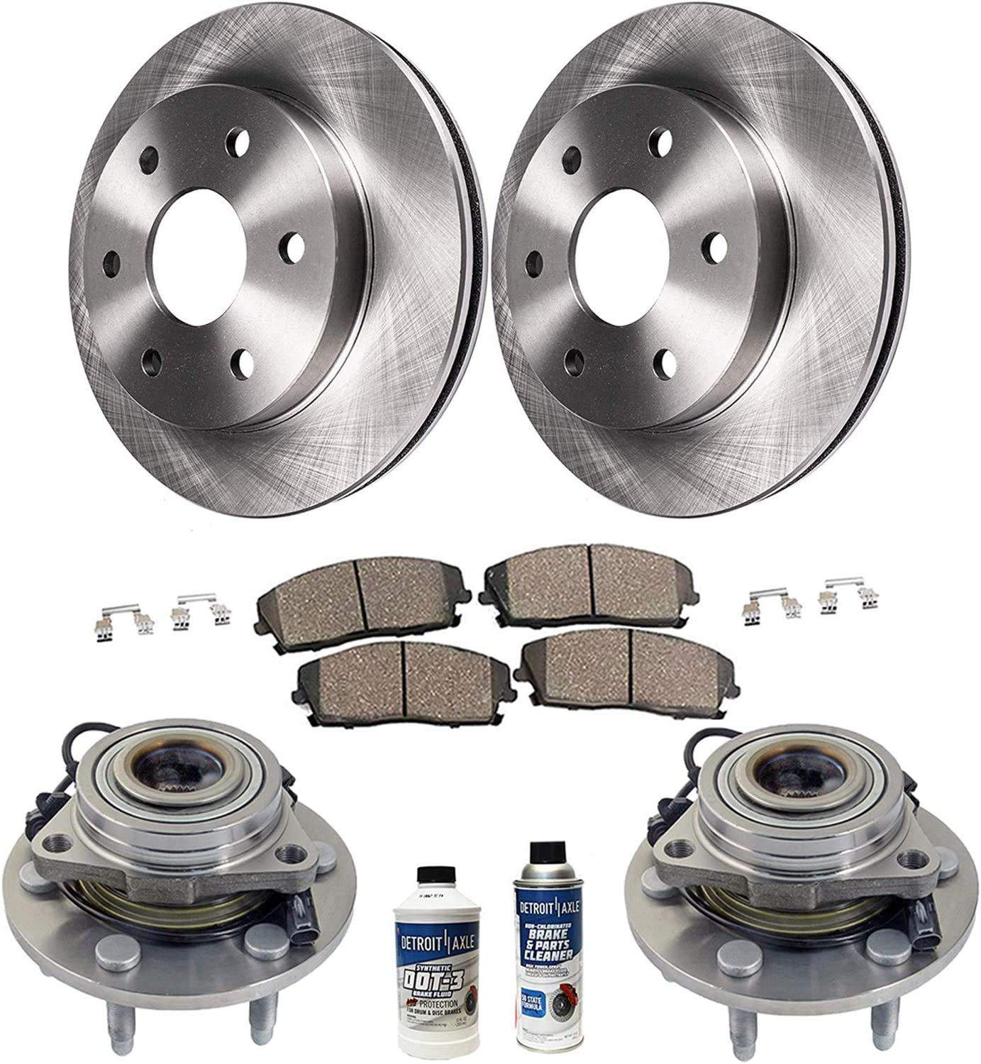 Rotors Metallic Pads F+R OE Replacement 2007 2008 Chevy Silverado 1500 2WD//4WD
