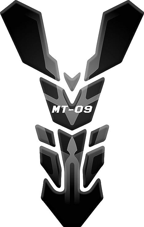 Nero//Blu RESINATO EFFETTO 3D compatibile con Yamaha MT-10 PARASERBATOIO ADESIVO
