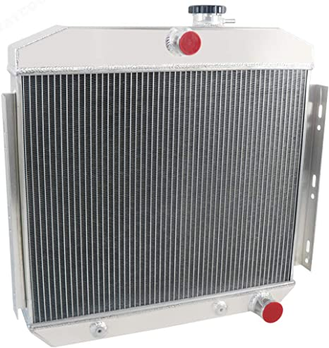 STAYCOO 62MM 4 Row Core Aluminum Radiator for 1955-1957 Chevrolet Bel Air//Nomad //150//210 Models Direct Replacement