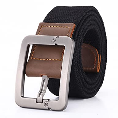 Meetloveyou Real Solid Belt for Men Cinto men s Fashion Pin Buckle Canvas  cowboy knitted Strap Casual d69bd470b09