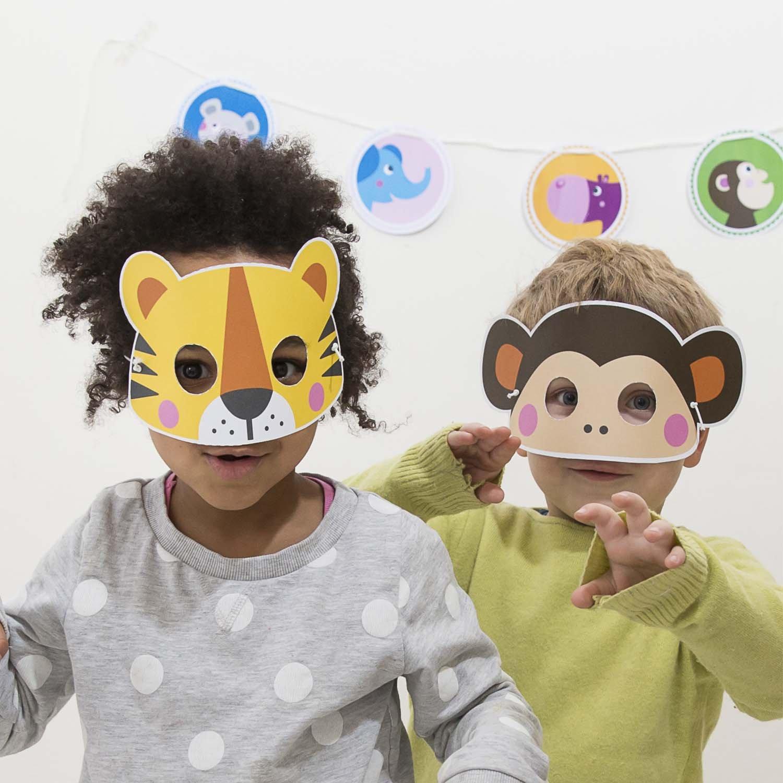 Julicadesign Tiermasken Zum Basteln Ideales Mitgebsel F U R Zoo