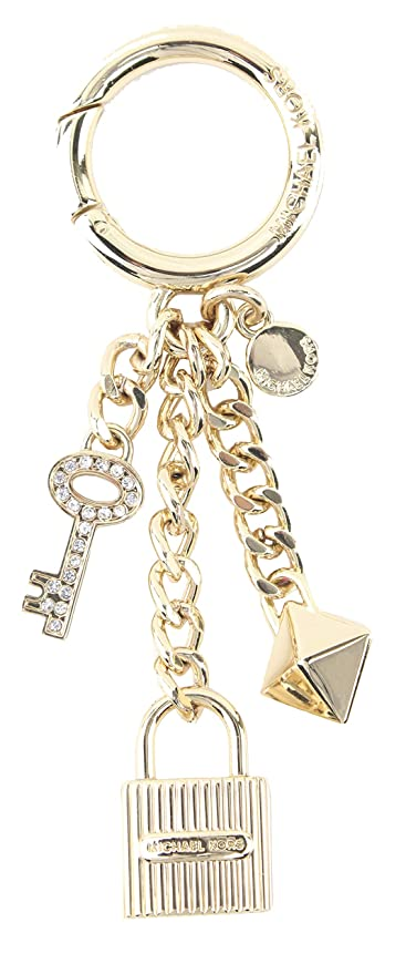 795697dbaa5d MICHAEL Michael Kors Gold Lock and Pave Key Handbag Charm Key Fob Keychain  with Gift Box