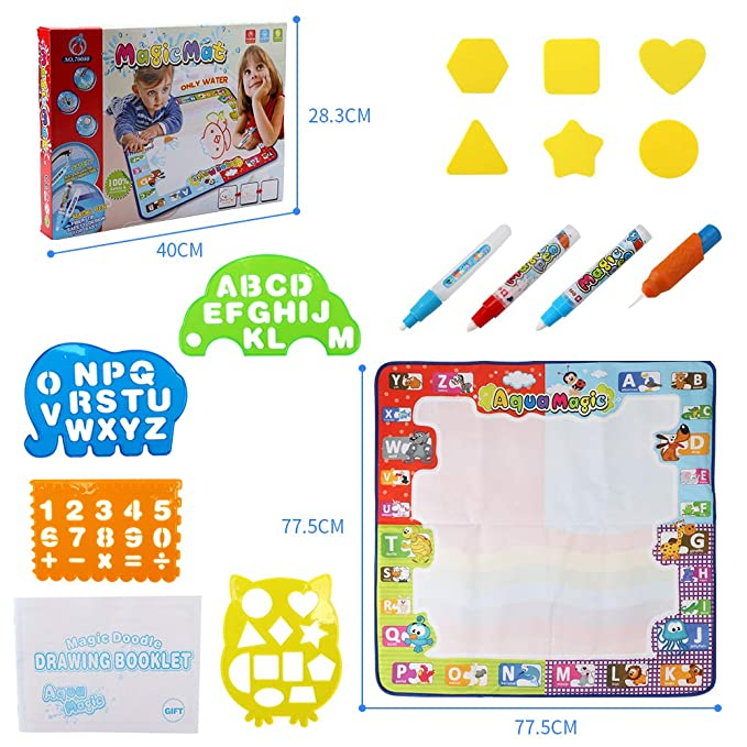 Amazon.com: Rcail 4Kids Aqua Magic Doodle Mat - Alfombra ...