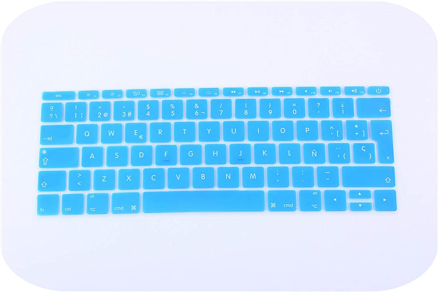 12 inch Silicone Spanish Waterproof Keyboard Cover for New MacBook 12 Retina//New Pro 13 with Retina Keyboard Film Sticker-Green