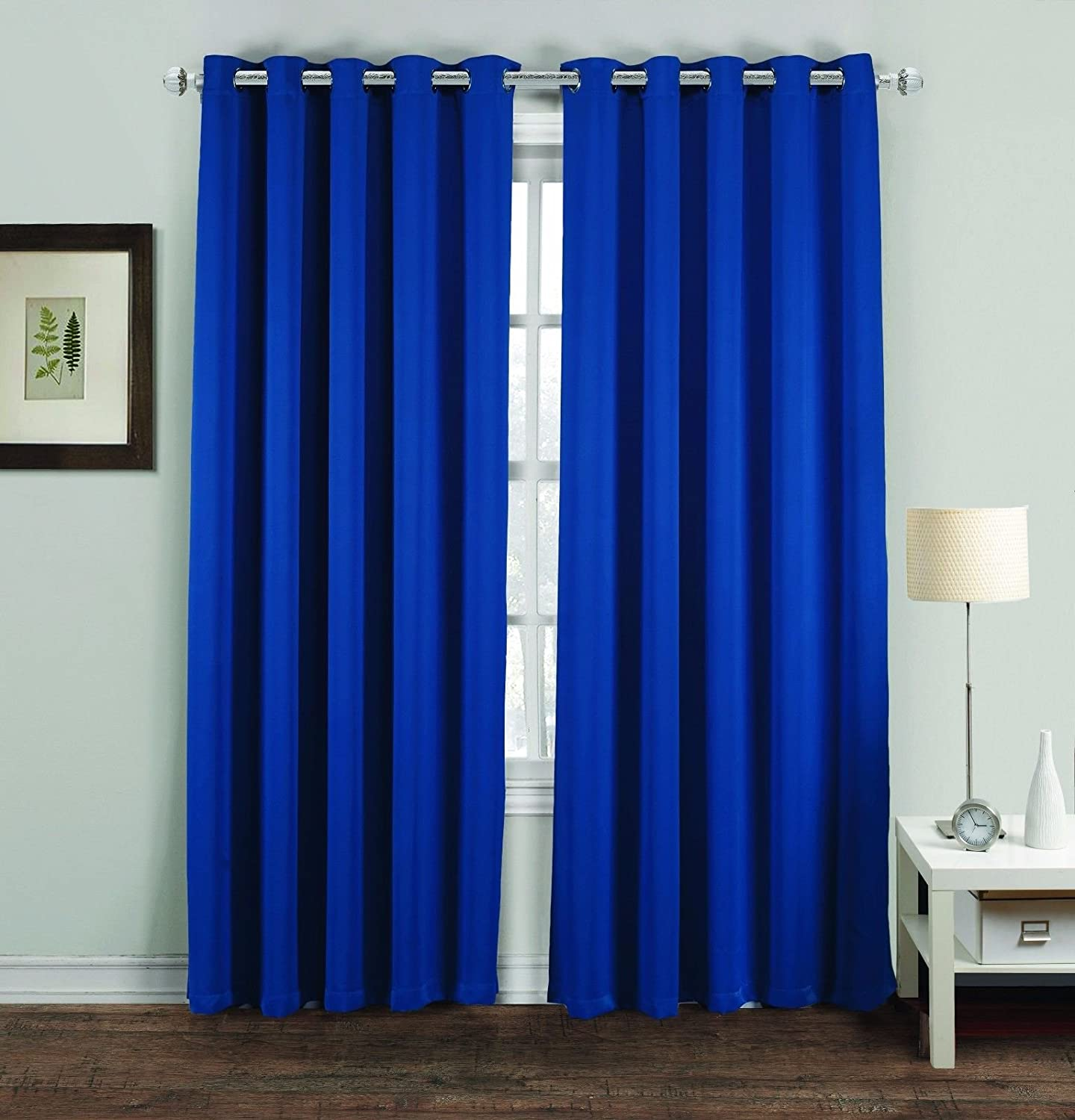 Ring Top Thermal Blackout Curtains Light Reducing Curtains for Plain Room Darkening Living Rooms Nursery Bedrooms 46 x 54 Cream