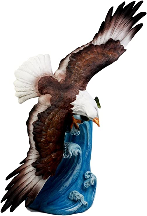 Ceramic  Button Knitting Sewing Bald Eagle