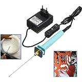 10cm Cutter Polystyrene Electrique / Machine de Cutting, GOCHANGE 100-240V/15W Coupe-Polystyrène Couteau Cutter avec Transformateur Adaptateur