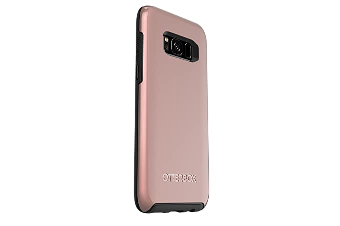 on sale ee8f3 05603 OtterBox SYMMETRY SERIES for Samsung Galaxy S8 - Retail Packaging - PINK  GOLD (BLACK/PINK GOLD GRAPHIC)
