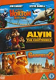 Horton Hears a Who!/ Alvin and the Chipmunks/ Garfield 2 Triple Pack [DVD]