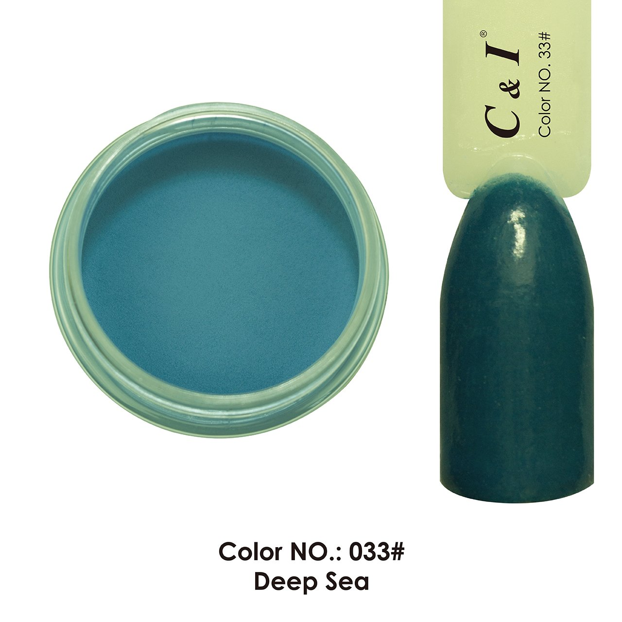 C & I Dipping Powder Color No.033 Deep Sea Blue Color System Fulei Trading