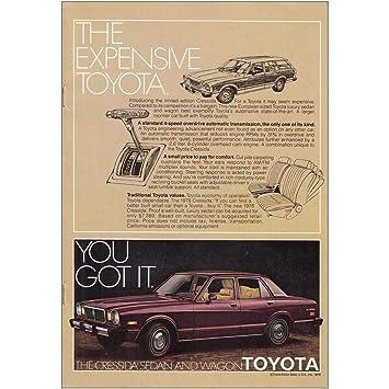 Amazon.com: RelicPaper 1978 Toyota Cressida Sedan: Expensive, Toyota Print Ad: Posters & Prints