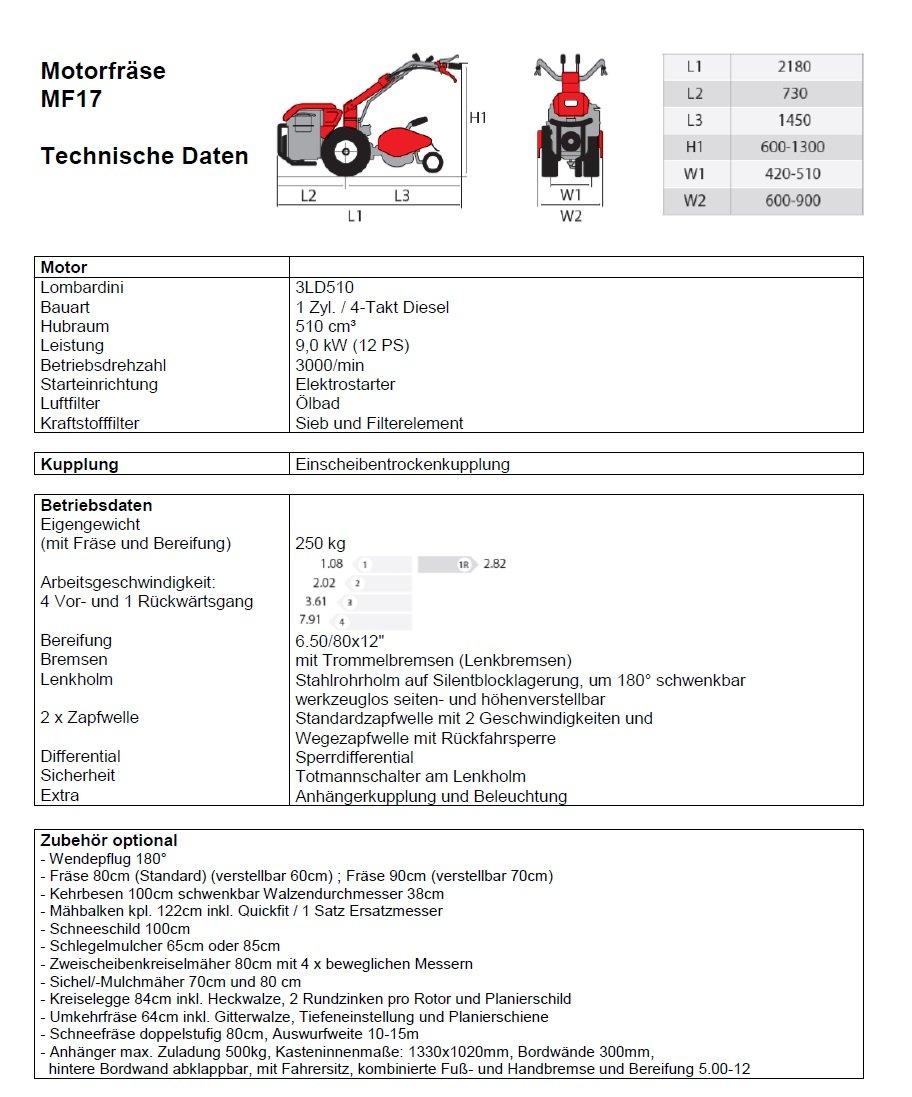 POWERPAC mak17 - einachser fresado Buzón 80 cm motoazada ...