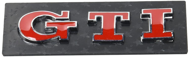 3D07229 - Chrome rouge 3D emblème de la voiture auto adhésif logo caractères (3M auto-adhésif) GTI