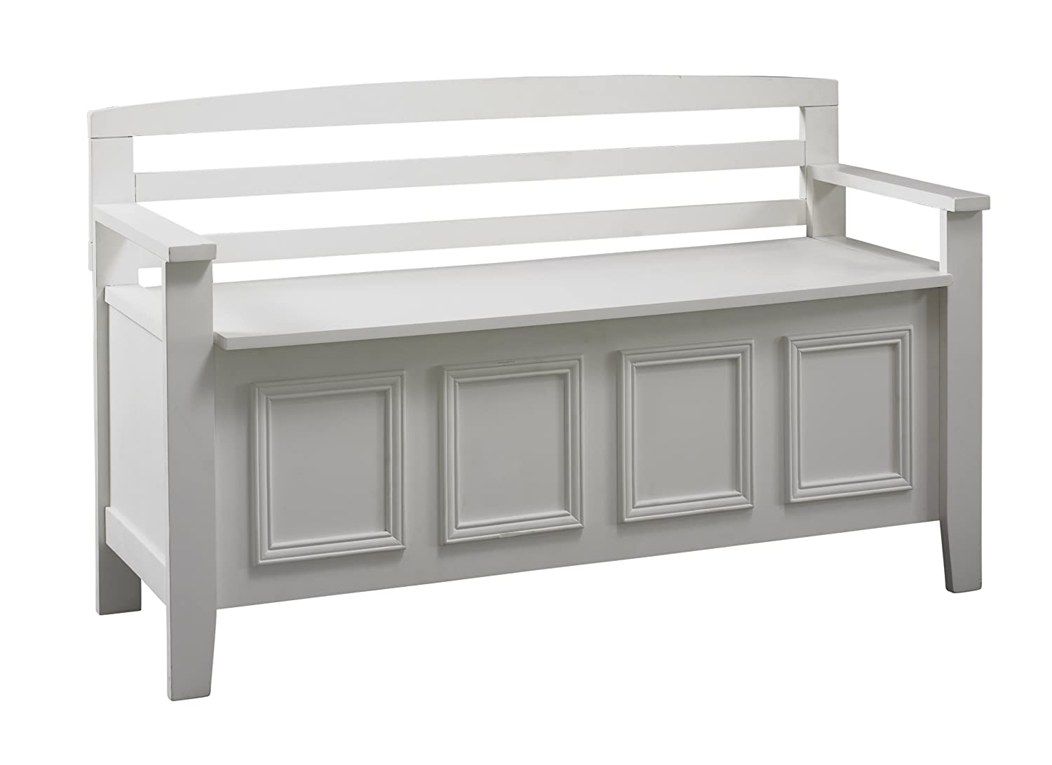 Amazon com linon laredo storage bench kitchen dining