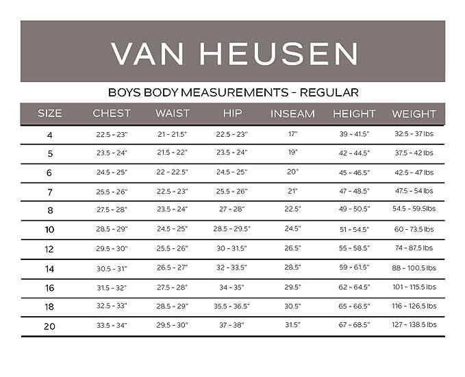 van heusen shoe size chart