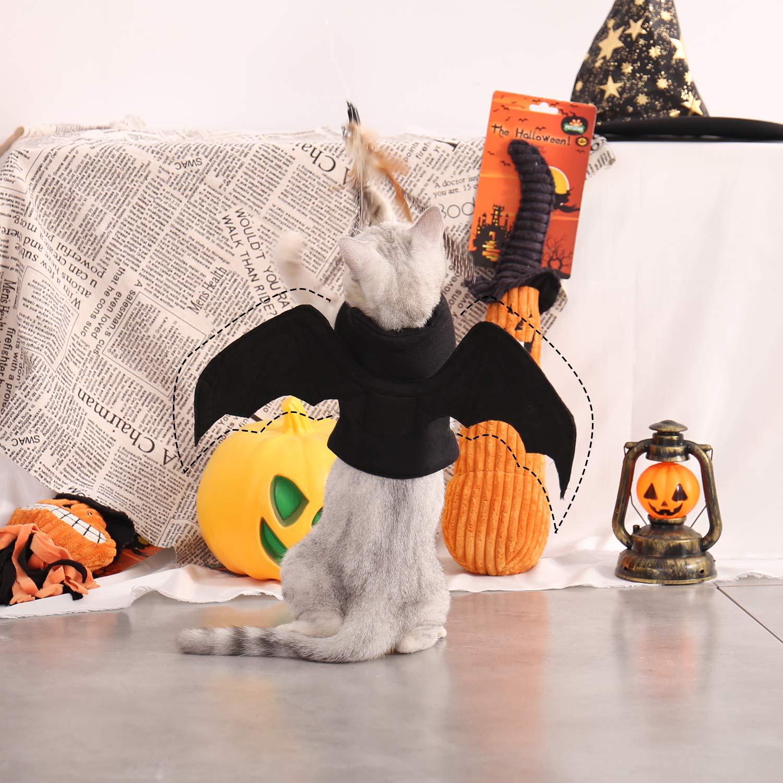 OHANA Katzen Hunde Halloween Kost/üme schwarz Vampir Fledermaus Fl/ügel Kost/üm f/ür besondere Anl/ässe Kost/üm f/ür Katzen Hunde Kostume fur Hund Cosplay Prop Partei Kleidung Outfit Fl/ügel