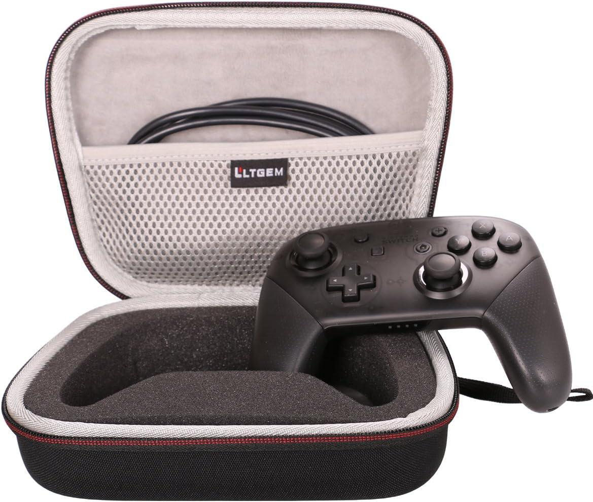 LTGEM Case para Nintendo Switch - Mando Pro Controller EVA Duro Estuche Transporte de Viajes Funda. Con malla de bolsillo Ajuste Cable USB & Accesorio: Amazon.es: Videojuegos