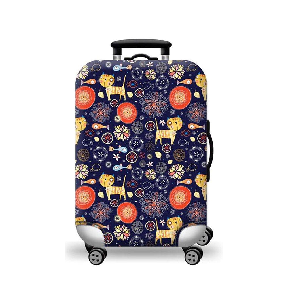 Sulida Housse de valise bagage en tissu Élastique Bagages Couverture Imprimé Valise Couverture Protecteur housse de bagage (moti2L)