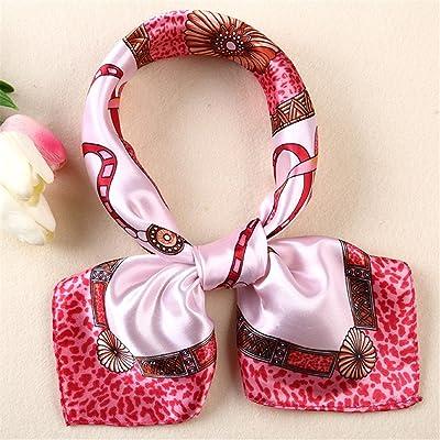 FLYRCX Doux et confortable pour femmes foulard foulard en soie d'impression décorées multifonction 60cmx60cm