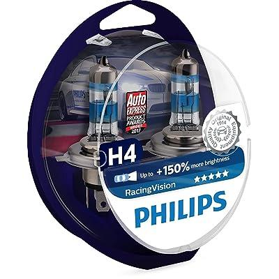 Philips RacingVision H4 Headlight Bulbs (Twin) 12342RVS2 Xtreme Vision Upgrade: Automotive