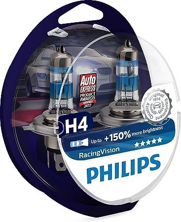 Philips RacingVision Lampadina Fari Auto, Tipo H4, temperatura di