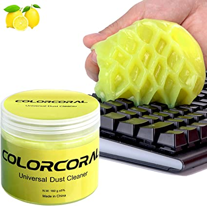 Magic Innovative Super Soft Sticky Dust Cleaning Gel Gum Computer Car PC Laptop Keyboard Universal Dust Cleaner Giallo