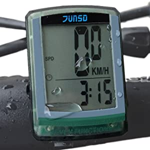 OutdoorMaster JUNSD Bike Computer, Waterproof Multifunction Cycling Speedometer