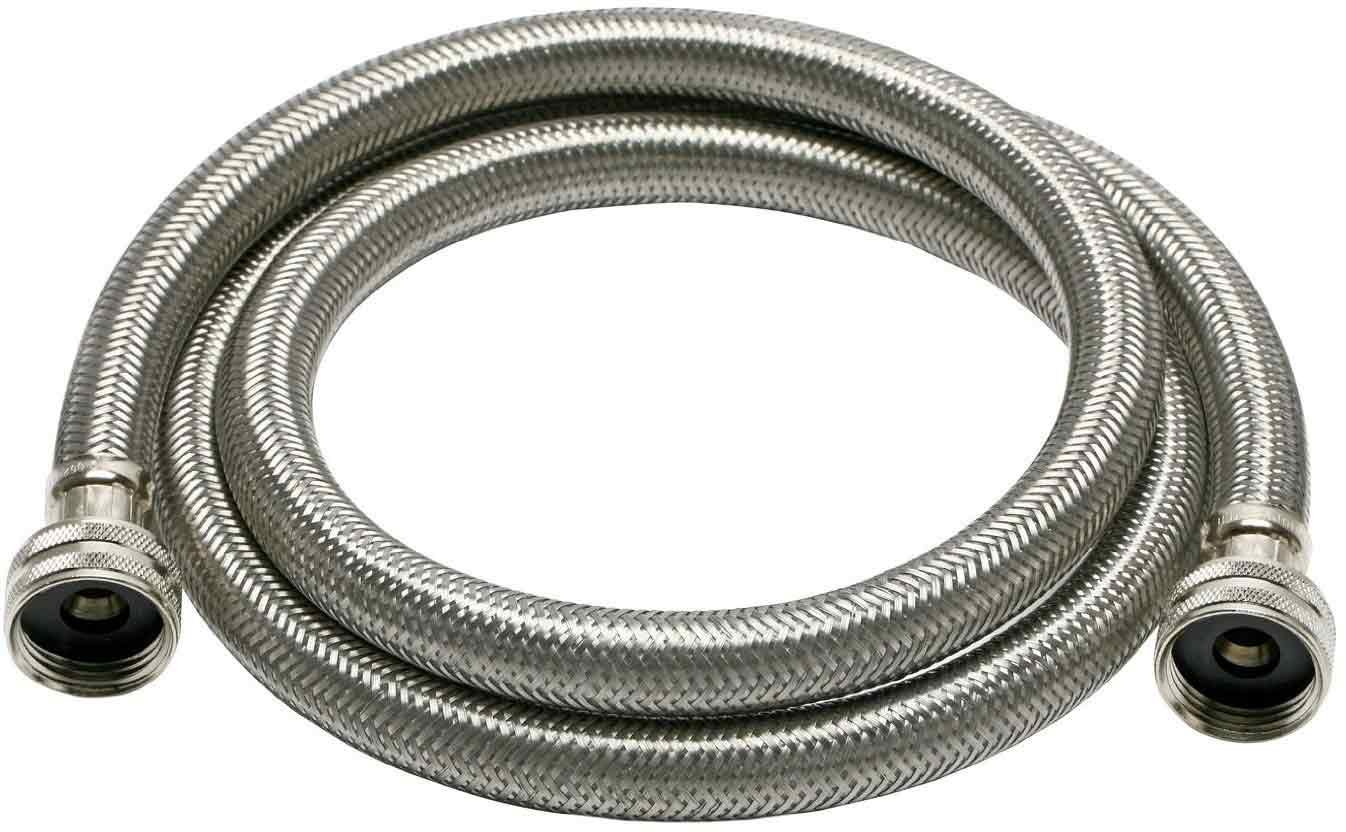 Fluidmaster B9WM72HE High Efficiency Washing Machine Connector Braided Stainless Steel - 3/4 Hose Fitting x 3/4 Hose Fitting 6 Ft. (72-Inch) Length ...  sc 1 st  Amazon.com & Fluidmaster B9WM72HE High Efficiency Washing Machine Connector ...