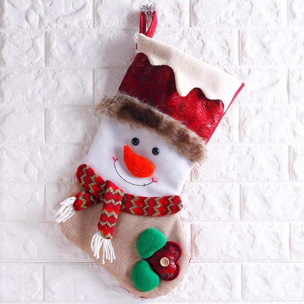 Simanli Premium Navidad decoración Papá Noel Botas calcetín ...